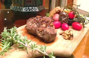 Walnut crusted Steak 1