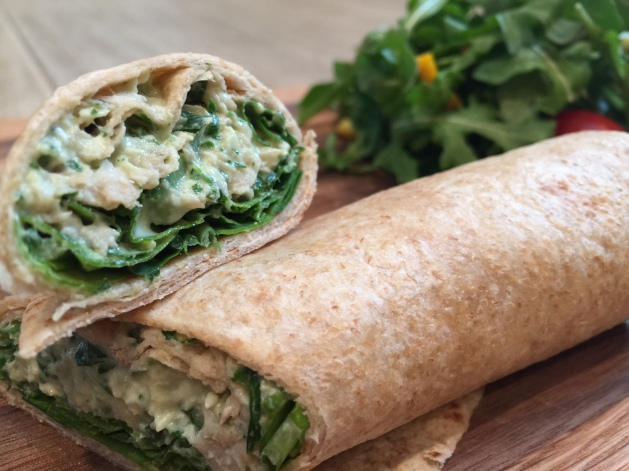 Chicken and Arugula Wrap 01